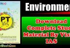 Environment PT 365 Download Complete Study Material By Vision IAS