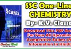 Chemistry One-Liners Asked in SSC Examination-Download PDF Notes