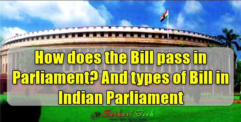 How does the Bill pass in Parliament? And types of Bill in Indian Parliament
