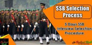 SSB Selection Process, 5 Days SSB Interview Selection Procedure