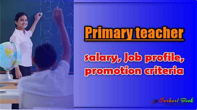 Primary teacher salary, Job profile, promotion criteria