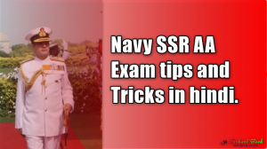 Navy SSR AA Exam tips and Tricks in hindi.